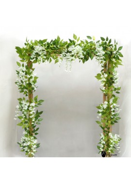 4pcs Home Wedding Decoration Simulation Floral Decor Wisteria Flower Rattan