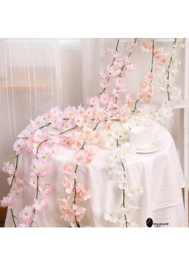 Wedding Cherry Vine String Decoration Hanging Flower Wedding Party Floral Decor Garden Craft Art Decor