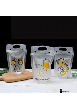 100PCS Beverage Bag Juice Bag Disposable 350ML