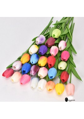 5pcs Tulip Simulation Flower Fake Flower Wedding Party