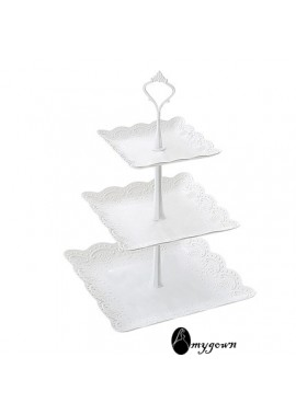 Three-Layer Dessert Table With Multi-Layer Cake Stand 37*24CM