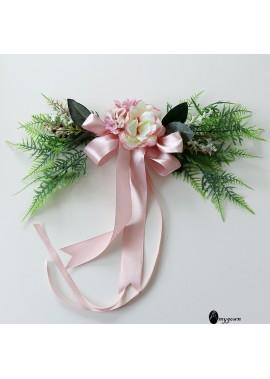 Knot Wedding Chair Back Flower Simulation Bouquet Size About 45*15CM