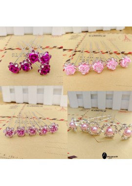 10pcs U-Shaped Clip Bridal Headdress Hairpin Hairpin Disc hairpin