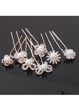 4pcs Chuck Hairpin Hair Ornament Flower Arrangement Hairpin