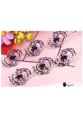 6pcs Rhinestone Small Grab Headgear Hairpin With Diamonds