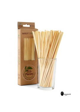 100PCS Creative New Disposable Straw 20cm Wheat Straw