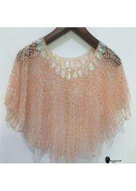 Sequined Shawl New Lace Wild Cardigan Short