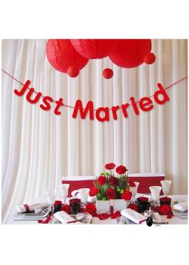 Wedding Letter Pull Flower Decoration Banner Total Length 3 Meters