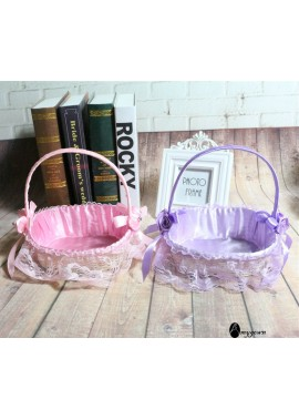 2PCS Wedding Shopping Basket The Overall Height Is About 20CM, The Diameter Is About 19CM