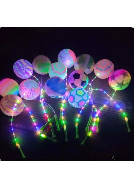 5pcs Glowing Colorful Balloons 22CM Long And 7.8 Inches In Diameter