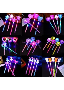 10PCS Glow Stick Flash Stick Fluorescent Magic Stick Ten Randomly With An Average Length Of About 35CM