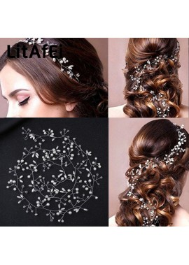 3PCS Pearl Hair Band Romantic Wedding Accessories About 35CM Long