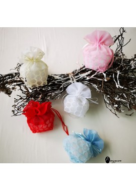15PCS New Exquisite Pearl Yarn Bags 13CM Wide And 11CM High 3.6G