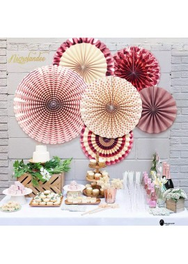5PCS Paper Flower Fan Set