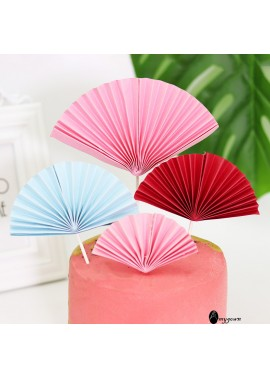 2PCS New Creative Paper Fan 9CM
