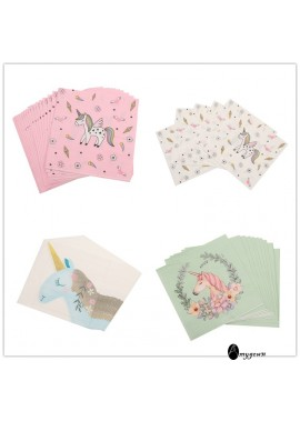 2 Sets Of Cartoon Unicorn Tissues 33*33CM