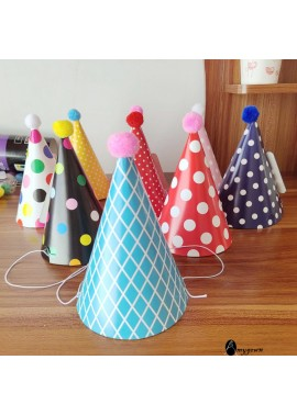 10PCS Decorative Funny Party Hats 9CM In Diameter And 13CM High