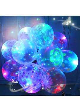 20pcs Glowing Balloons With Lights Flashing Luminous Lights