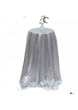 Sequin Tablecloth For Wedding Banquet Wedding Party Holiday Dinner Home, (125*125cm)