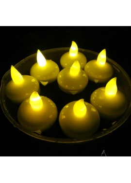 24PCS Floating Electronic Candle Waterproof Electronic Candle Lamp Height 4CM* Diameter 3.8CM