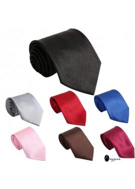 5PCS Men's Solid Color Tie 8*140CM