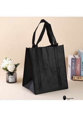 10PCS Solid Color Non-Woven Bag Tote Bags 36*38*24CM