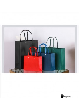 10PCS High-Grade Paper Bags Customized Gift Bags Clothing Bags 13*8*15CM