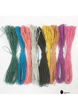 9 Colors 1 mm Colored Hemp Wax Line 100 Meters Long