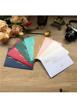 10pcs Bronzing Wedding Invitation Wedding Invitation