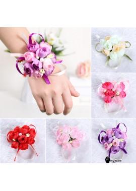 Artificial Fabric Pearl Wrist Flower