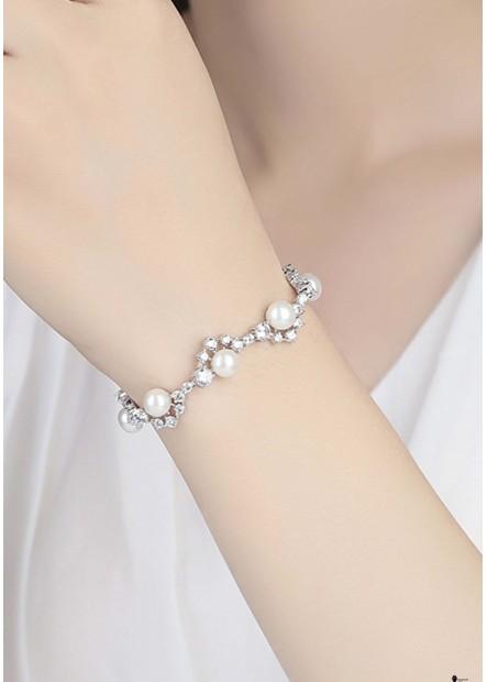 Pearl Rhinestone Bracelets T901556329507