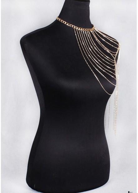 Golden Tassel Body Chains T901556435549