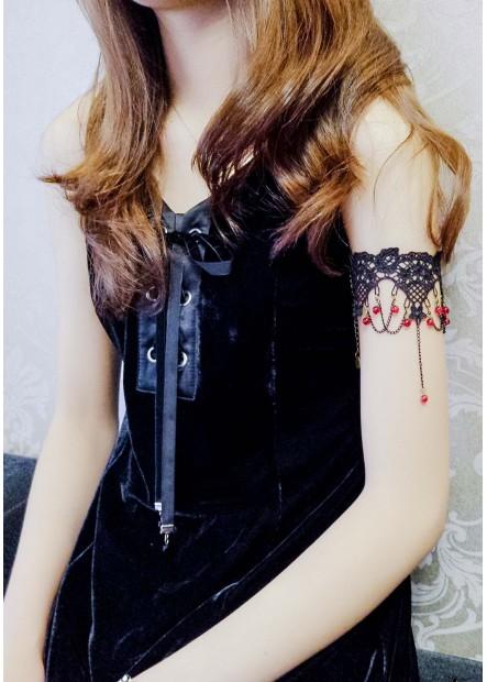Black Lace Arm Chains T901556443112