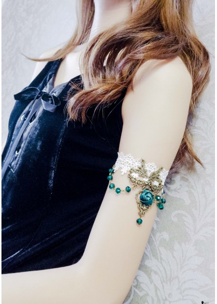 Gemstone White Lace Arm Chains T901556444429