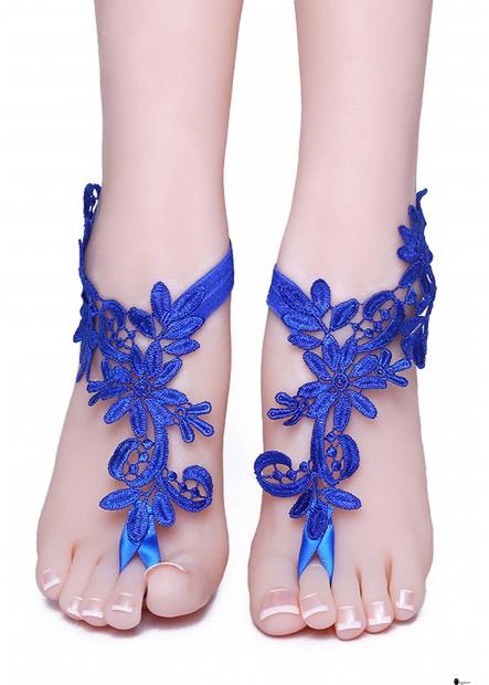 Blue Lace Anklets T901556523520