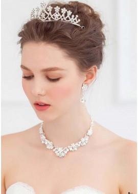 White Crystal Tiaras T901556592509