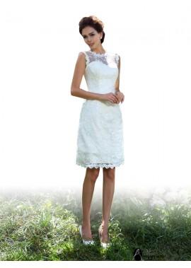 AmyGown 2021 Short Wedding Dress T801524715346