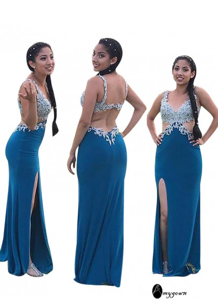 AmyGown Long Prom Evening Dress T801524705618