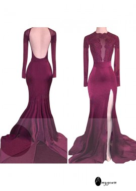 AmyGown Bargain But Best Mermaid Long Prom Evening Dress T801524702151