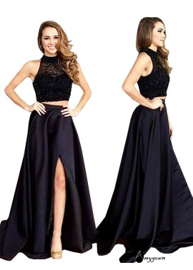 AmyGown Two Piece Long Prom Evening Dress T801524704096