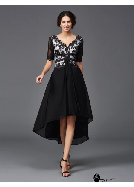 AmyGown Sexy Short Homecoming Prom Evening Dress T801524710564