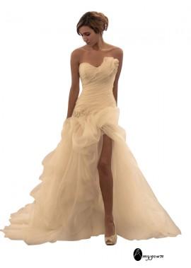AmyGown 2021 Beach Short Wedding Ball Gowns T801524714867