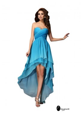 AmyGown Sexy High Low Prom Evening Dress T801524706065