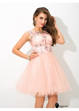 AmyGown Short Homecoming Prom Evening Dress T801524710393