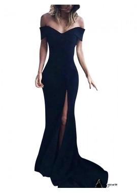Black V Neck Long Formal Evening Dresses Online For Women T801524703580