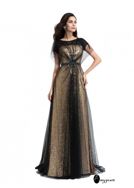 AmyGown Sexy Long Prom Evening Dress T801524705086