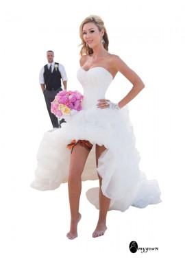 AmyGown 2021 Beach Short Wedding Dresses T801524713738