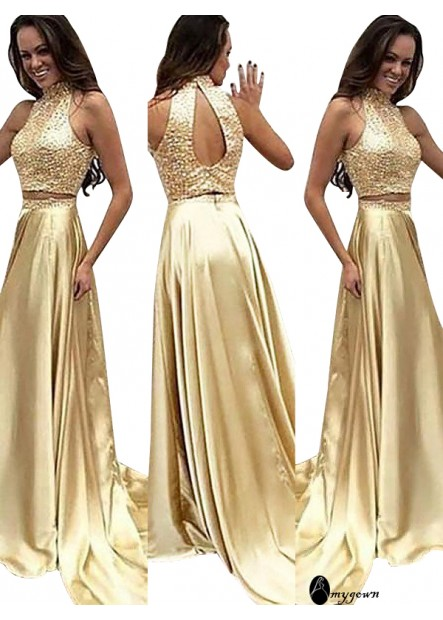 AmyGown Two Piece Long Prom Evening Dress T801524704691