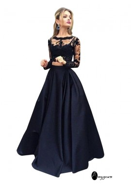 AmyGown Lace Black Long Prom Evening Dress T801524703566