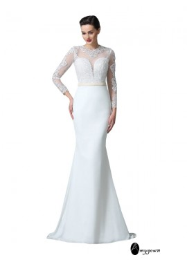 AmyGown 2020 Beach Lace Wedding Dresses T801524715115